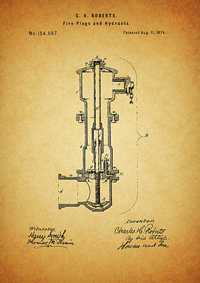 Drawing - Vintage Fire Hydrant by Dan Sproul