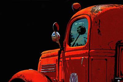 Photograph - Vintage Fire Truck Poster Art by Lesa Fine
