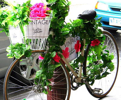 Photograph - Vintage Floral Delivery by Laurel Talabere