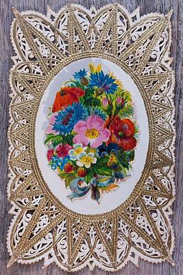 Photograph - Vintage Floral Lace by Joy of Life Art Gallery
