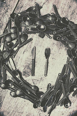 Cutlery Photograph - Vintage Food Service by Jorgo Photography - Wall Art Gallery
