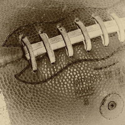 Footballs Closeup Photograph - Vintage Football 2 by David Patterson