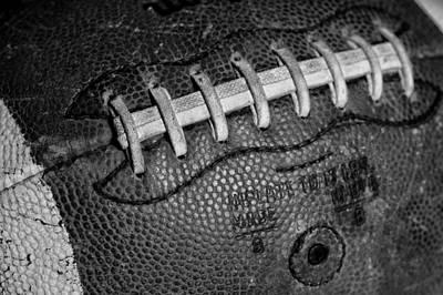 Football Closeups Photograph - Vintage Football 3 by David Patterson