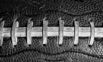 Footballs Closeup Photograph - Vintage Football 6 by David Patterson
