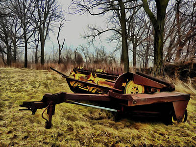 Digital Art - Vintage Forage Harvester by Leslie Montgomery