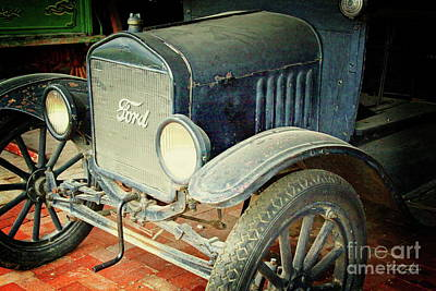 Photograph - Vintage Ford by Inspirational Photo Creations Audrey Woods