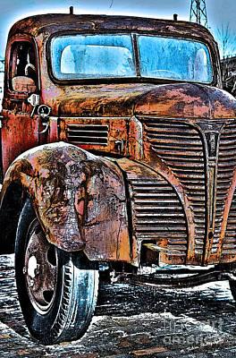 Photograph - Vintage Fargo Truck by Nina Silver
