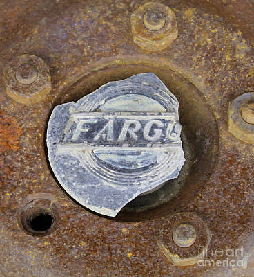 Photograph - Vintage Fargo Wheel Art by Nina Silver