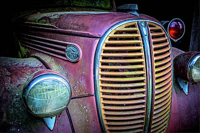 Photograph - Vintage Ford Firetruck by Rod Kaye