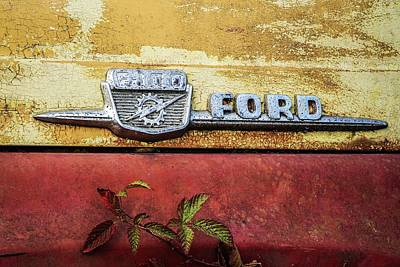 Photograph -  Vintage Ford Logo by Patrice Zinck