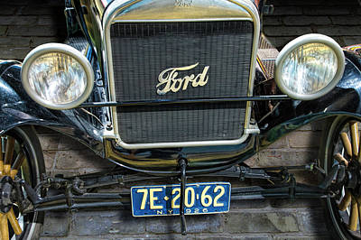 Photograph - Vintage Ford Model T Automobile Front End by Randall Nyhof