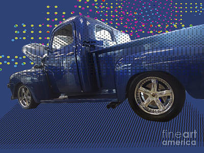 Photograph - Vintage Ford Pop Art Pickup Truck II by Melissa Messick