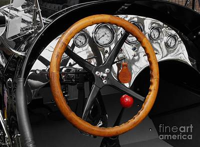 Photograph - Vintage Ford Racer Dashboard by Neil Zimmerman