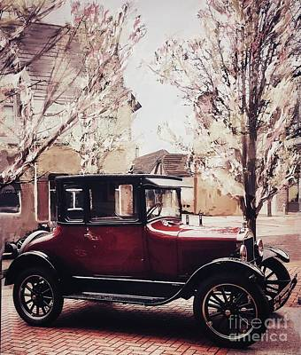 Mixed Media - Vintage Model T Ford by Susan Garren