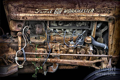 Photograph - Vintage Ford Tractor by Walt Foegelle