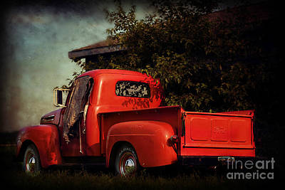 Photograph - Vintage Ford Truck by Kathy M Krause