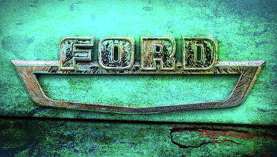Photograph - Vintage Ford Truck Logo  by Terry DeLuco