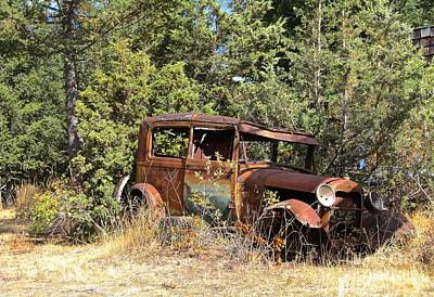 Photograph - Vintage Ford Yard Art by Linda Bianic