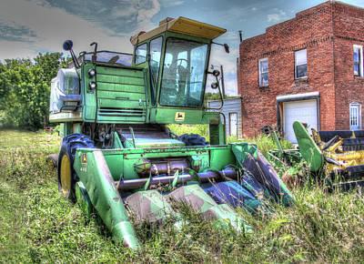 Photograph - Vintage Four Row Corn Picker by J Laughlin