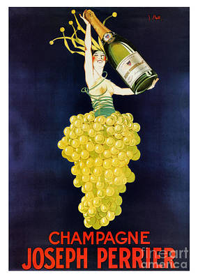 Vintage French Champagne Print by Mindy Sommers