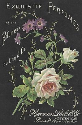 Vintage French Perfume  Art Print