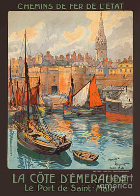 Photograph - Vintage French Travel Poster 3 by George Pedro