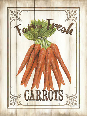 Vintage Fresh Vegetables 3 Art Print by Debbie DeWitt