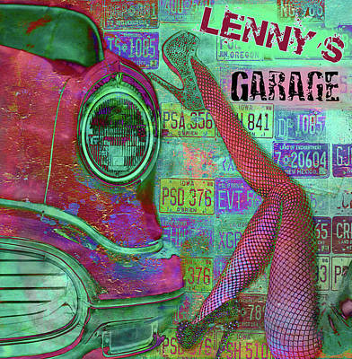 Digital Art - Vintage Garage Print by Greg Sharpe