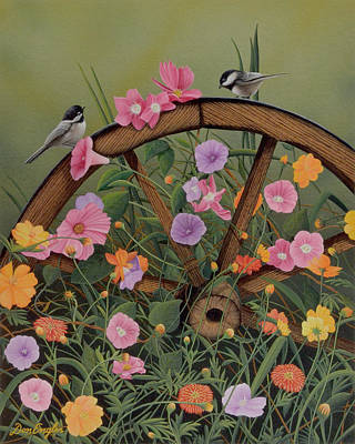 Painting - Vintage Garden by Don Engler