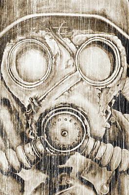 Digital Art - Vintage Gas Mask by Jakub DK