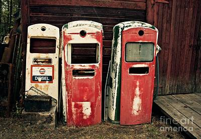 Photograph - Vintage Gas Pumps by Linda Bianic