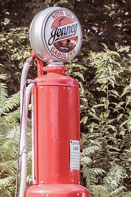 Photograph - Vintage Gasoline Pump by Claudia M Photography