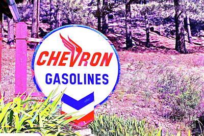 Photograph - Vintage Gasoline Sign by Pamela Walrath