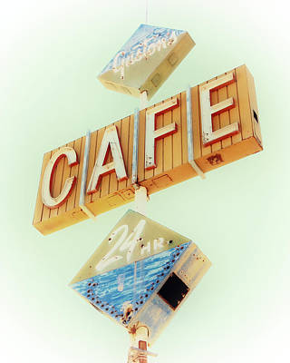 Photograph - Vintage Gaston's Cafe Sign by Gigi Ebert
