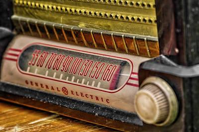 Vintage G.e. Radio Art Print