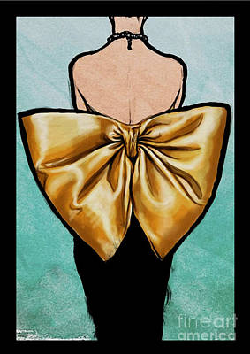 Fashion Model Painting - Vintage Glamour Fashion Dress by Mindy Sommers