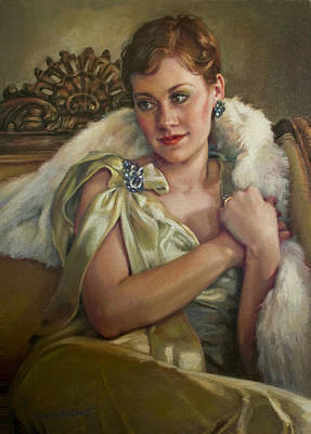 Painting - Vintage Glamour by Jean Hildebrant