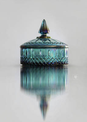 Photograph - Vintage Glass Candy Jar by Yvonne Wright