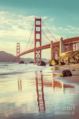 Photograph - Vintage Golden Gate by JR Photography