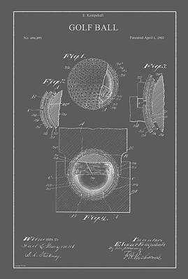 Drawing - Vintage Golf Ball Patent by Vintage Pix