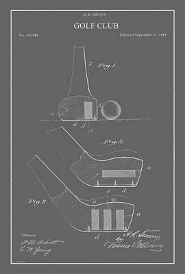 Drawing - Vintage Golf Club Patent by Vintage Pix