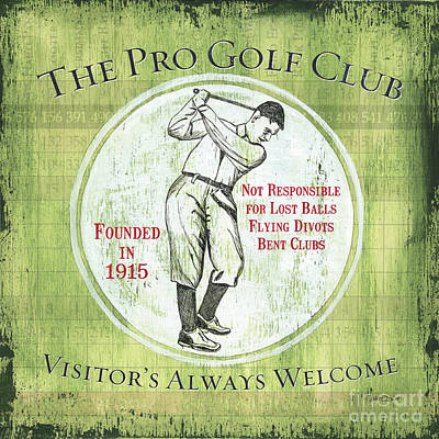Vintage Golf Green 2 Art Print by Debbie DeWitt