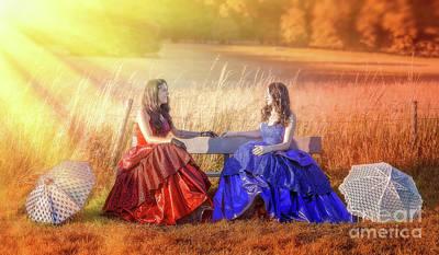 Sun Rays Mixed Media - Vintage Gossip by Svetlana Sewell