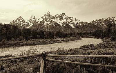 Owens River Photograph - Vintage Grand Teton Mountains And Snake River by Dan Sproul