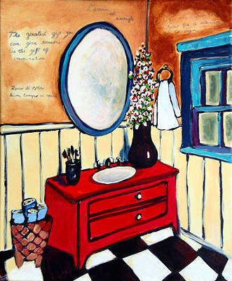 Painting - Vintage Grandma Bathroom by Patricia Lazaro
