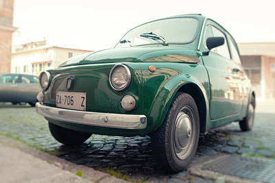 Photograph - Vintage Green Fiat 500 In Italy by Vlad Baciu