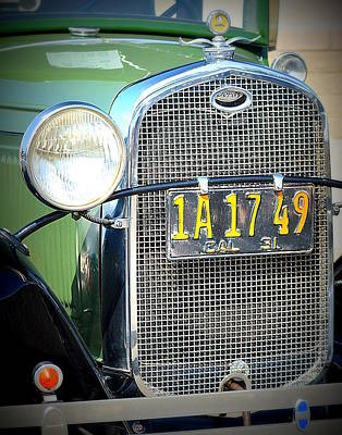 Photograph - Vintage Grille by Kimberly-Ann Talbert