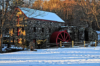 Vintage Grist Mill Art Print by Mike Martin