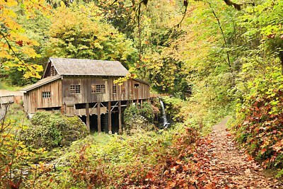 Photograph - Vintage Grist Mill  by Steve McKinzie