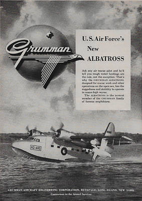 Albatross Mixed Media - Vintage Grumman Albatross As 1949 by James Smullins